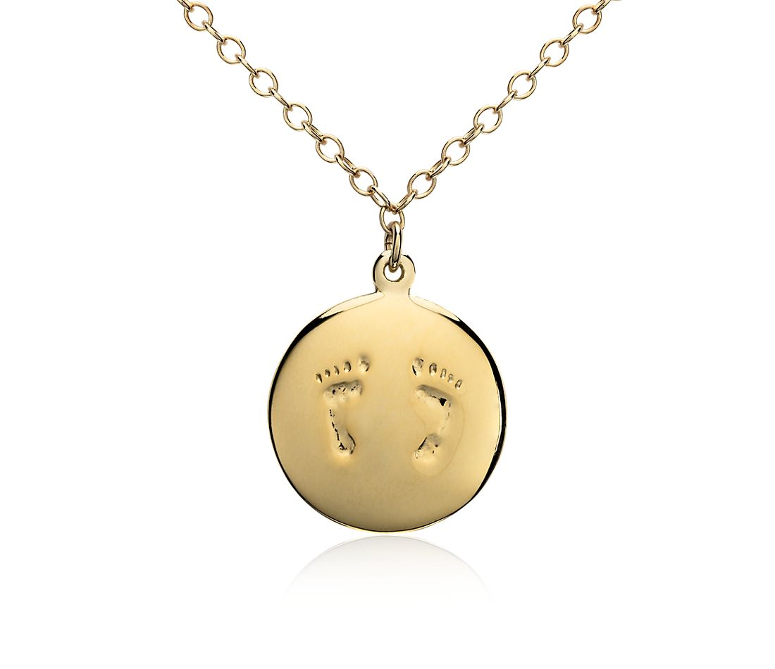 Baby Feet Pendant in Yellow Gold Vermeil