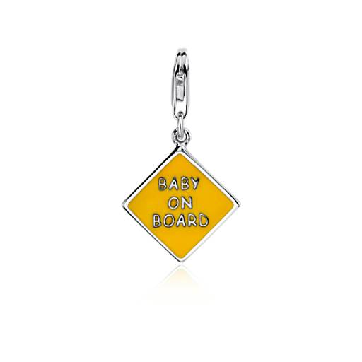 """""""Baby on Board"""" Charm in Sterling Silver"""