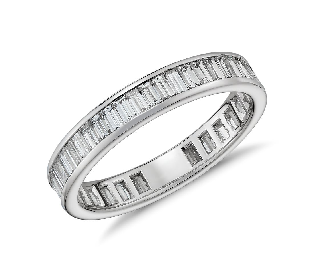 Channel Set Baguette Diamond Eternity Ring in Platinum (1 1/2 ct. tw.)