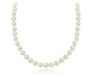 Baroque Akoya Cultured Pearl Necklace with 14k White Gold (6.5-7mm) 36