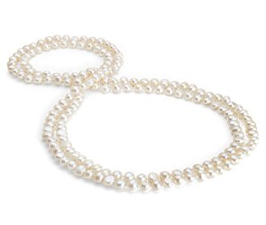 Baroque Freshwater Cultured Pearl Necklace in Sterling Silver - 54