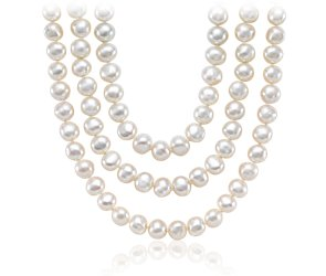 Baroque Freshwater Cultured Pearl Necklace with Sterling Silver - 54