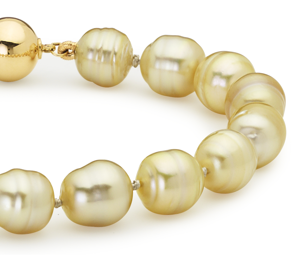Baroque Golden South Sea Cultured Pearl Bracelet in 18k Yellow Gold