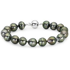 Baroque Tahitian Pearl Bracelet with 18k White Gold