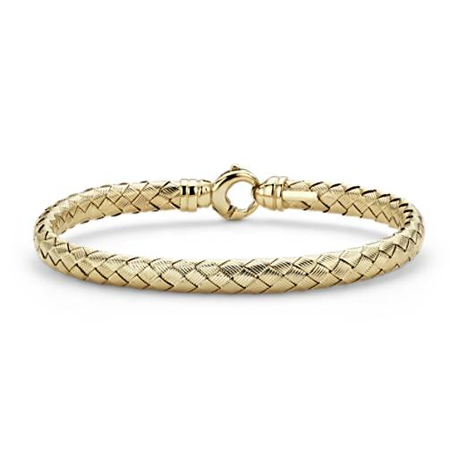 Basketweave Bangle in 14k Yellow Gold