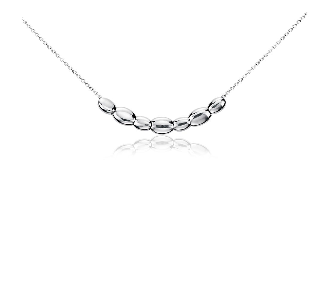 Wish Bead Necklace in Sterling Silver