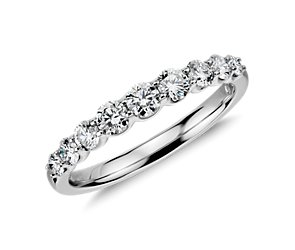 Graduated Diamond Ring in 14k White Gold (1/2 ct. tw.)