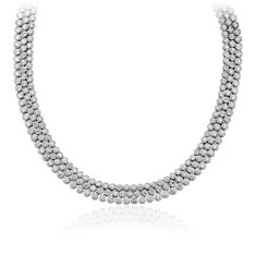 Bezel-Set Diamond Eternity Necklace in 18k White Gold (34.27 ct. tw.)
