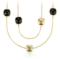 Spinel Necklace in 18k Yellow Gold Vermeil