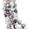 Tuxedo Freshwater Keshi Cultured Pearl Necklace with Sterling Silver