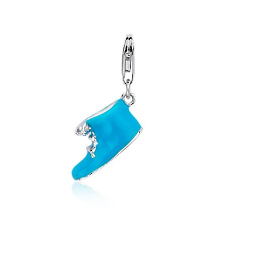 Blue Bootie Charm in Sterling Silver