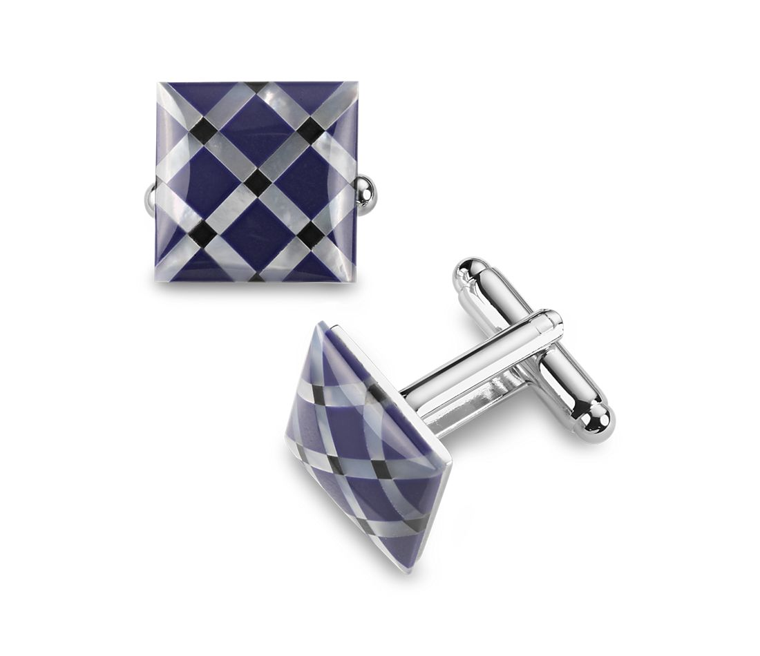 Blue Mother of Pearl Cuff Links