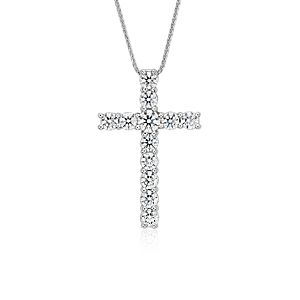 Blue Nile Signature Diamond Cross Pendant in Platinum (2 ct. tw.)