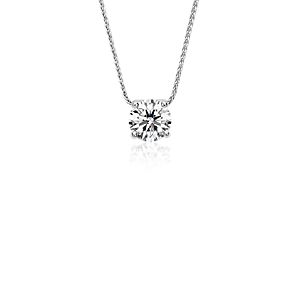 Blue Nile Signature Floating Diamond Solitaire Pendant in Platinum (1.25 ct. tw.)