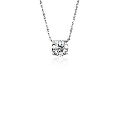 Pendentif solitaire diamant flottant Blue Nile Solitaire en platine (1,25carats, poids total)