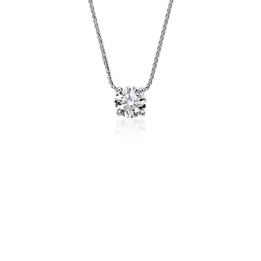 Blue Nile Signature Floating Diamond Solitaire Pendant in Platinum (0.60 ct. tw.)