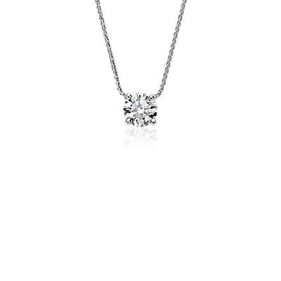 Blue Nile Signature Floating Diamond Solitaire Pendant in Platinum (.60 ct. tw.)