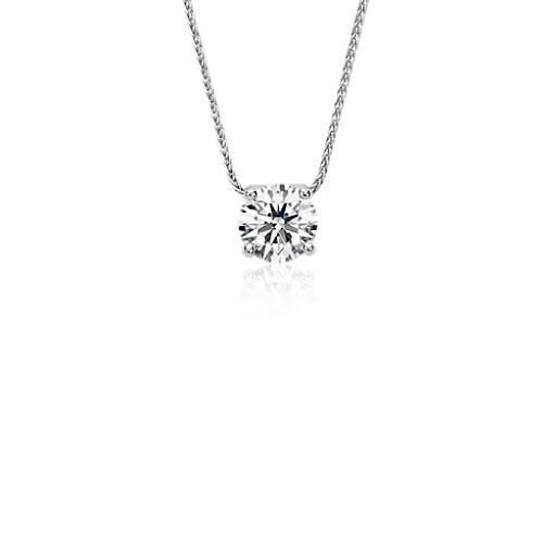 Pendentif solitaire diamant flottant Blue Nile Solitaire en platine (1,75carats, poids total)
