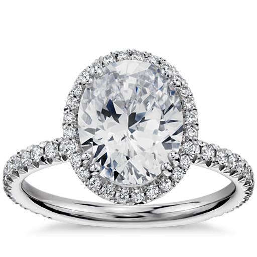 Blue Nile Studio Oval Cut Heiress Halo Diamond Engagement ... - photo #5