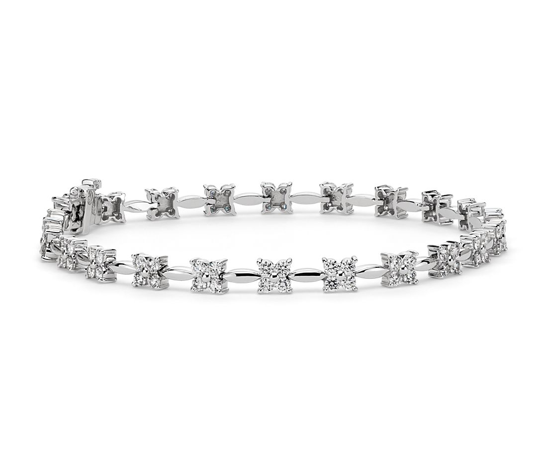 Bouquet Diamond Bracelet in 18k White Gold