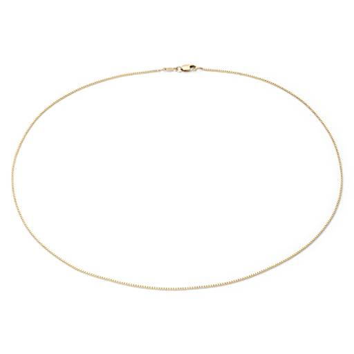 Box Chain Necklace in 14k Yellow Gold - 18'' Long