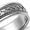 Braided Wedding Ring  in 14k White Gold (7mm)