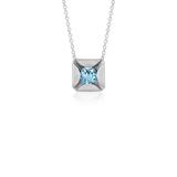 Bree Richey Blue Topaz Pendant in Sterling Silver (5mm)