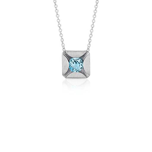 Bree Richey Blue Topaz Pendant in Sterling Silver