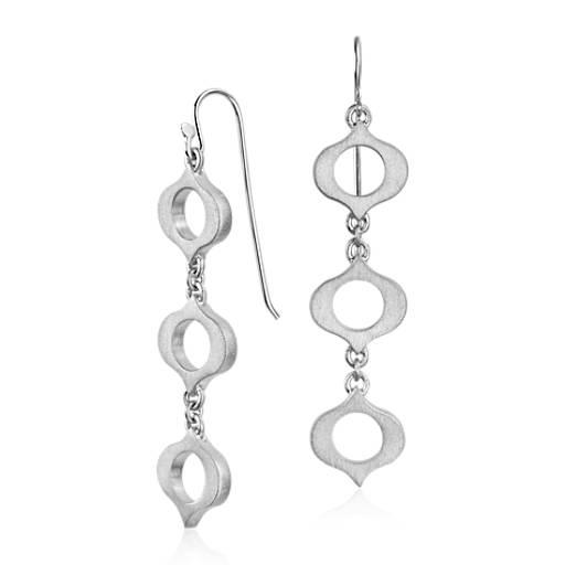 Bree Richey Satin Kasbah Drop Earrings in Sterling Silver
