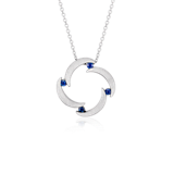 Bree Richey Sapphire Pendant in Sterling Silver