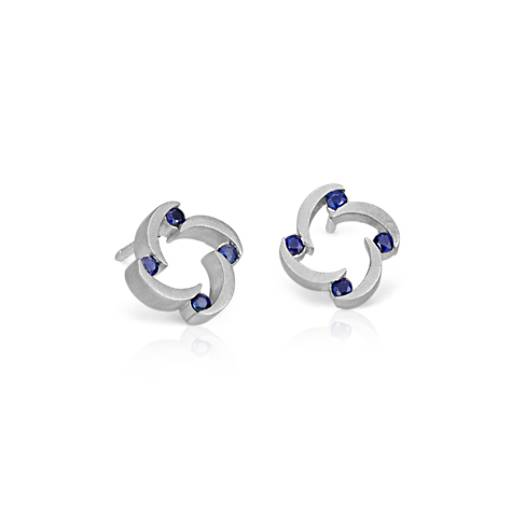 Bree Richey Sapphire Stud Earrings in Sterling Silver (1.7mm)