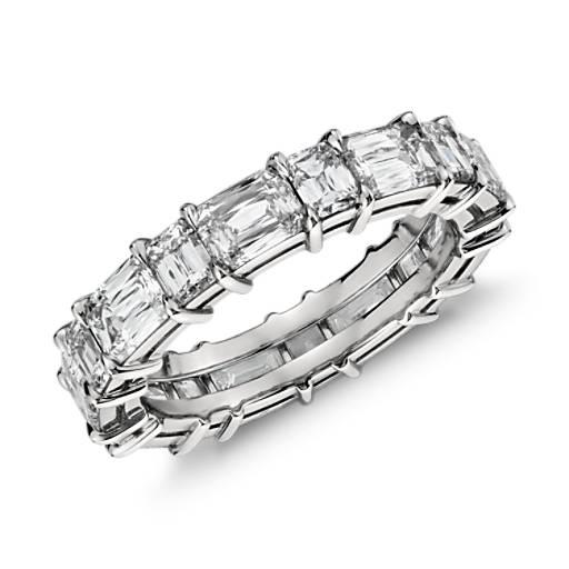 Brilliant Emerald Mixed Cut Diamond Eternity Ring in Platinum (4.5 ct. tw.)