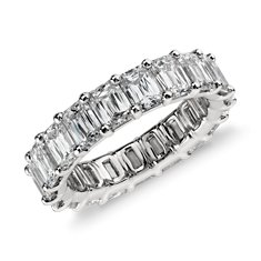 Brilliant Emerald Cut Diamond Eternity Ring in Platinum (6 ct. tw.)