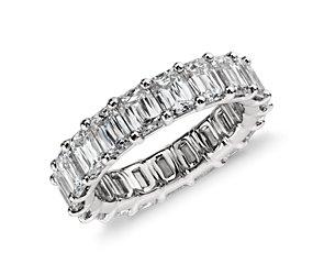 Brilliant Emerald Cut Diamond Eternity Ring in Platinum (6 ct. tw.)