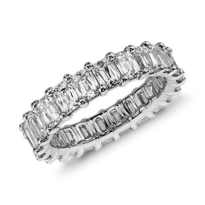 Brilliant Emerald Cut Diamond Eternity Ring in Platinum (4.5 ct. tw.)