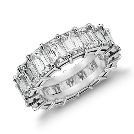 Brilliant Emerald Cut Diamond Eternity Ring in Platinum (8 ct. tw.)