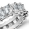 Brilliant Emerald Cut Diamond Eternity Ring in Platinum (7.50 ct. tw.)