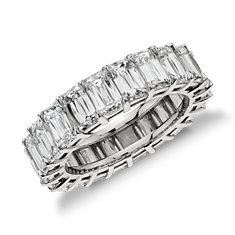Brilliant Emerald Cut Diamond Eternity Ring in Platinum (9.27 ct. tw.)