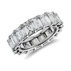 Brilliant Emerald Cut Diamond Eternity Ring in Platinum (8.64 ct. tw.)