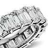 Brilliant Emerald Cut Diamond Eternity Ring in Platinum (8.50 ct. tw.)