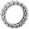 Bague d'éternité en diamant taille émeraude et brillant en platine (8,50carats, poids total)