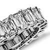 Brilliant Emerald Cut Diamond Eternity Ring in Platinum (7.00 ct. tw.)
