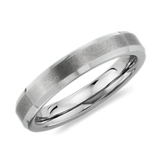 Brushed Wedding Ring in 14K White Gold (4.5mm)