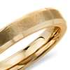 Brushed Wedding Ring in 14K Yellow Gold (4.5mm)