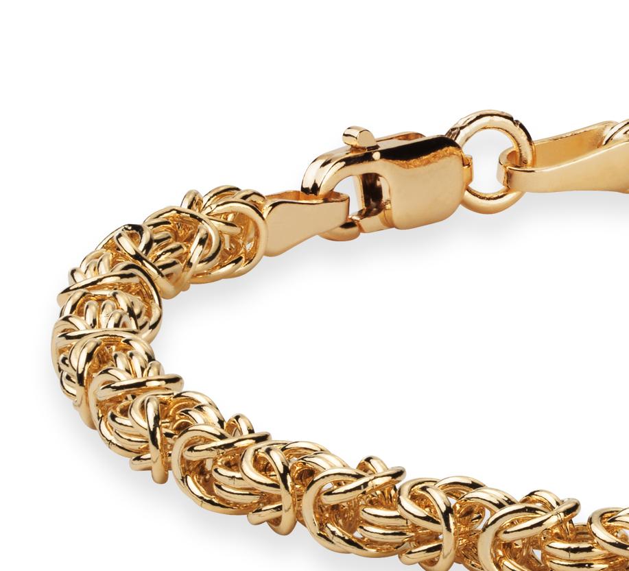 Brazalete bizantino Petite en oro amarillo de 14k