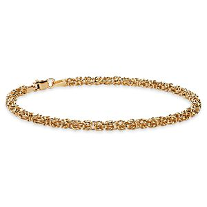 Petite Byzantine Bracelet in 14k Yellow Gold