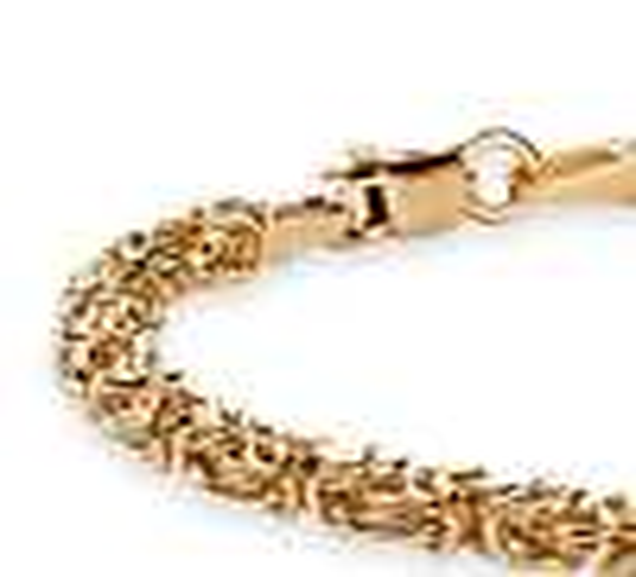 Petite Byzantine Bracelet in 14k Yellow Gold