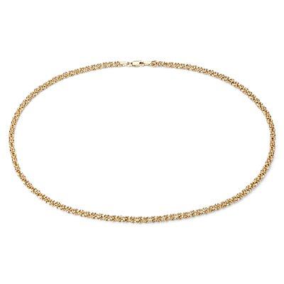 Collier byzantin de petite taille en or jaune 14carats