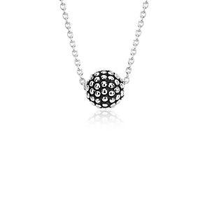 Pendentif perlé motif caviar en argent sterling
