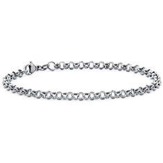Brazalete con cadena redonda en platino